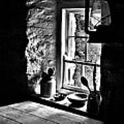 Irish Cottage Window Art Print