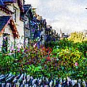 Irish Garden Water Color Art Print