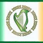 Irish Harp Art Print