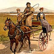 Irish Jaunting Car Art Print