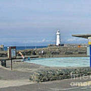 Irish Sea Lighthouse On Pier Art Print