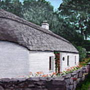 Irish Thatched Cottage Art Print
