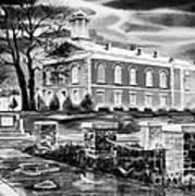 Iron County Courthouse IIi - Bw Art Print