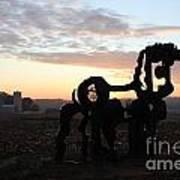 Iron Horse Keeping Watch Art Print