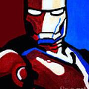 Iron Man 2 Art Print by Barbara McMahon