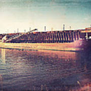 Iron Ore Freighter In Dock Art Print