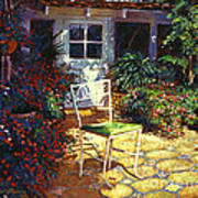 Iron Patio Chair Art Print by David Lloyd Glover
