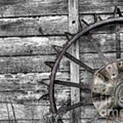 Iron Tractor Wheel Art Print