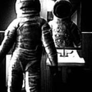 The Astronaut And The Bathroom Art Print