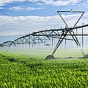 Irrigation Equipment On Farm Field Art Print