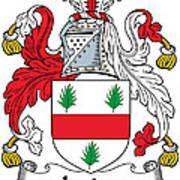 Irvine Coat Of Arms Irish Art Print