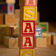 Isaac - Alphabet Blocks Art Print