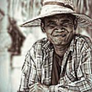 Isaan Rice Farmer Art Print