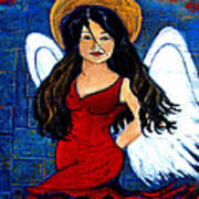 Isabella  A Spanish Earth Angel From Cultures Around The World Art Print by The Art With A Heart By Charlotte Phillips