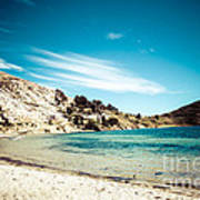 Isla Del Sol On The Titicaca Lake Art Print