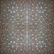 Islamic Wooden Texture Art Print