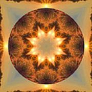 Island Beach Sunset Mandala Art Print