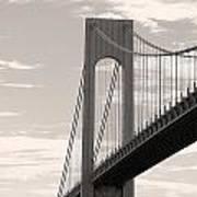 Island Bridge Bw Art Print