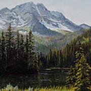 Island Lake Art Print