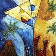 Island Martini  Original Madart Painting Art Print
