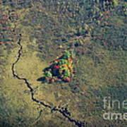 Island Of Fall Color Art Print