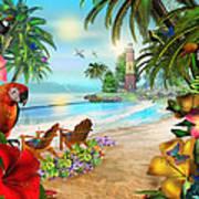 Island Of Palms Art Print