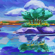 Island On The Lake Art Print