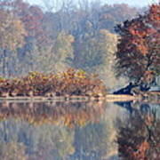 Island Reflected In The Potomac River Art Print