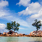 Islands And Clouds, The Seychelles Art Print