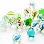 Isolated Marbles Art Print