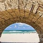 Israel Caesarea Aqueduct  Art Print