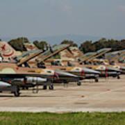 Israeli Air Force F-16`s Of Three Art Print