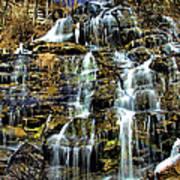 Issaqueena Falls With Rainbow Art Print