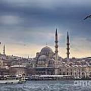 Istanbul Skyline Art Print