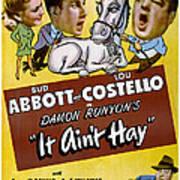 It Aint Hay, Top L-r Patsy Oconnor, Bud Art Print