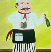 Italian Chef 3 Art Print