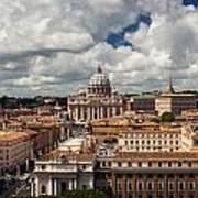 Italian City Rome Overview Art Print