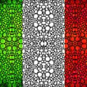 Italian Flag - Italy Stone Rock'd Art By Sharon Cummings Italia Art Print