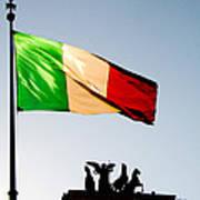 Italian Flag Art Print