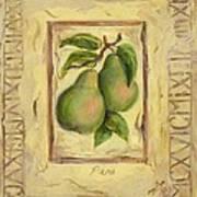 Italian Fruit Pears Art Print
