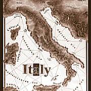 Italian Map Art Print