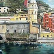 Italian Riviera - Cinque Terre Colors Art Print