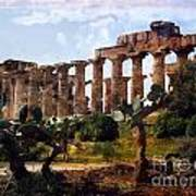Italian Ruins 1 Art Print