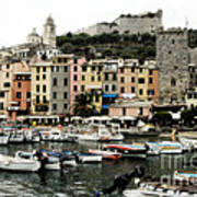 Italian Seaside Village Art Print
