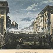 Italian Unification. Insurrection Art Print