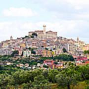 Italian Village From Afar Art Print