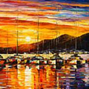 Italy Naples Harbor Art Print