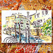 Italy Sketches Venice Canale Art Print