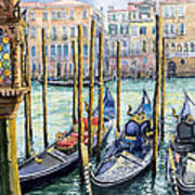 Italy Venice Lamp Art Print