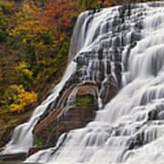 Ithaca Falls In Autumn Art Print